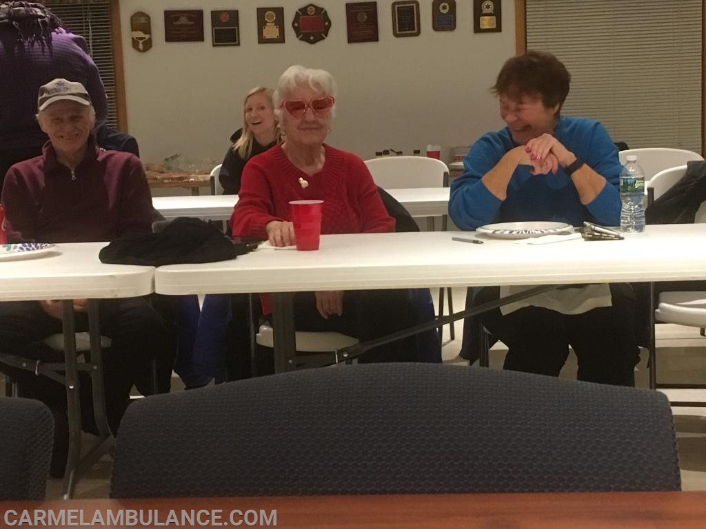 From Left to Right - Past Board Member Ron McCarthy, Ex-Captain Fran McCarthy and Past Treasurer Maureen Guido