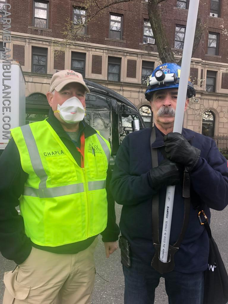 EMT Tim Denmark (Left)